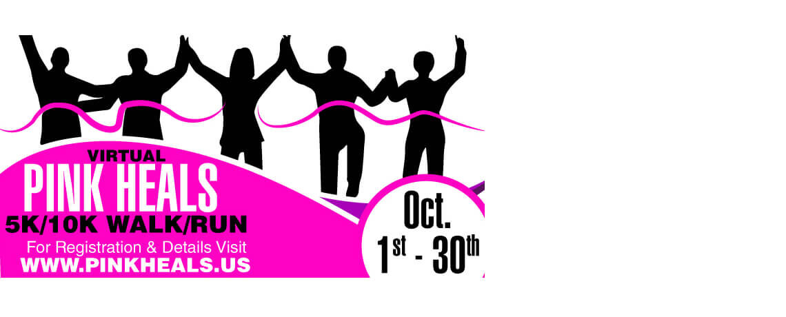 Pink Heals 5K/10K Virtual Walk/Run